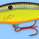 Rapala Bleeding Hot Olive Deep Diving, Rattling Tail Dancer Lure (TDD09 BHO)