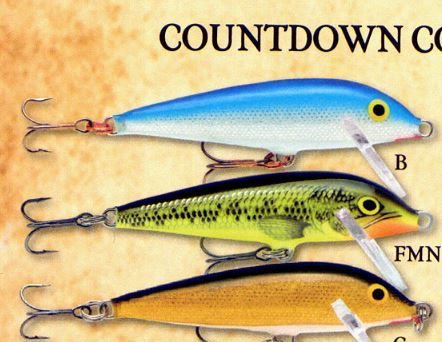 Rapala Rainbow Trout Slow-Sinking Countdown Fishing Lure (CD03-RT)