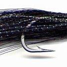 Clouser Black Minnow Six Fly Fishing Flies in Hook Size 2/0