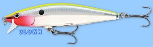 "Rapala CLOWN (FLR06 CLN) Flat Rap NEW 2-1/2"" Balsa Hard Flashing Fishing Lure"
