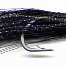 Clouser Black Minnow Fly Fishing Flies - Six Flies in Hook Size 2