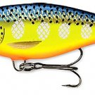 "Rapala 3-1/2"" Hot Steel (SR09) Balsa ""Deep Runner"" Shad Rap Fishing Lure"