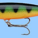 "Rapala (MR11 P) ""Deep Runner"" Perch Minnow Rap Balsa Fishing Lure"