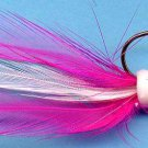 Apex Pink & White Feather Jigs (4-pak) for Bass, Trout & Walleye