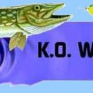 Acme K-O Wobbler 3/4 oz Nickel/Green Spoon Fishing Lure