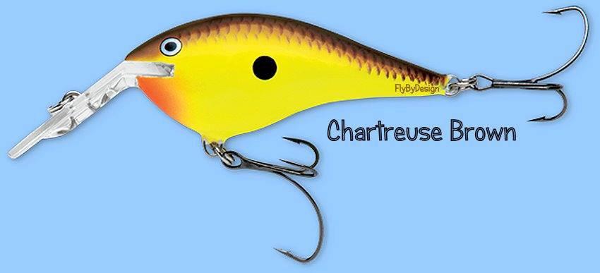 Rapala Chartreuse Brown DT Thug (DTTSS CTB) Fishing Lure w/ VMC SureSet Hooks