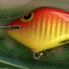 Vintage POE'S SUPER CEDAR Yellow/Red Crawdad 335 Lure