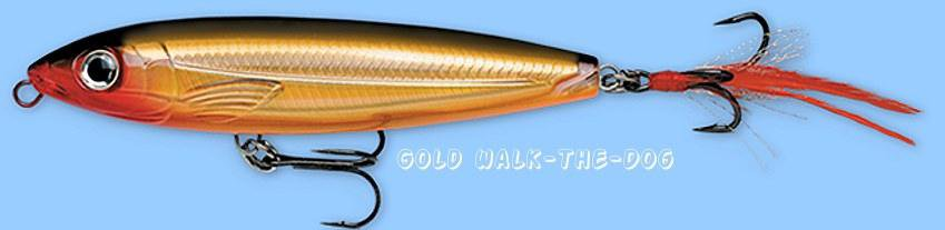 "NEW Rapala X-RAP Walk XRW09 (Gold) Rattling 3-1/2"" Topwater Lure - SureSet Hook"