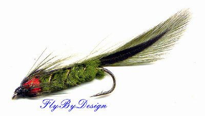 Olive Matuka Fly Fishing Flies - Twelve Flies in Hook Size of Your Choice