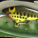 Vintage POE'S SUPER CEDAR Chartreuse Baby Bass 834 Lure