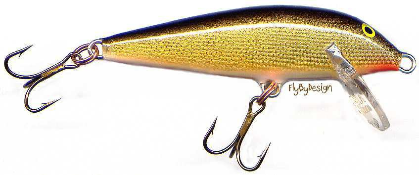 Vintage Rapala Gold Count Down (CD05 G) Sinking Lure with PAPERS Made in Finland