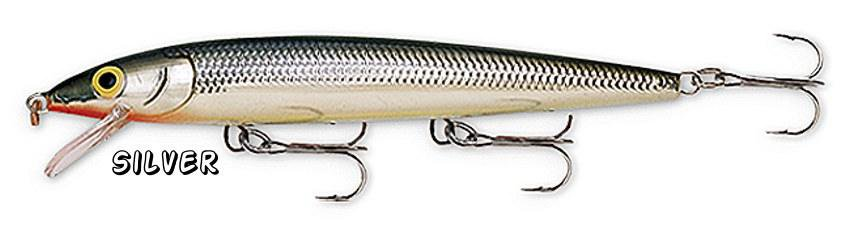 NEW Rapala SILVER Husky Jerk Rattling Suspending Fishing Lure (HJ08 S)