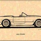 1955 Corvette Roadster Profile