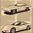 """1957 Q Corvette """"The Genesis of the C5 Corvette"""" Illustrated Series No. 140"""