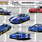 1963 - 1996 - 2010 Grand Sport Corvettes Illustrated Series No. 150