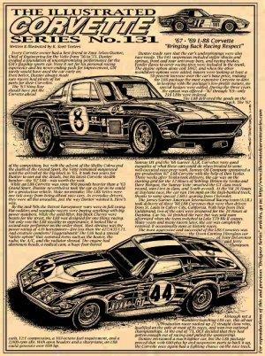 "'67 - '69 L-88 Corvette Racers ""Bringing Back Racing Respect"" Illustrated Series No. 131"