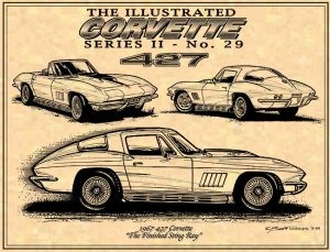 1967 427 Corvette Coupe and Roadster
