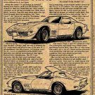 1970 Areo Coupe Corvette Show Car Illustrated Series No. 41