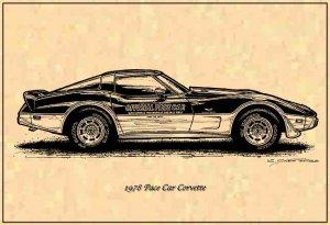 1978 Pace Car Corvette Profile