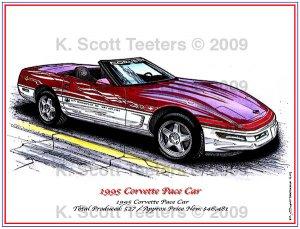 1995 Corvette Pace Car Laser Color Print