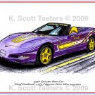 1998 Corvette Pace Car Laser Color Print