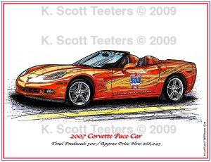2007 Corvette Pace Car Laser Color Print