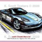 2008 Corvette Pace Car Laser Color Print