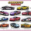Corvette Pace Car Montage Laser Color Print