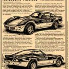 1978 Indy 500 Pace Car Special Corvette Illustrated Series No. 61
