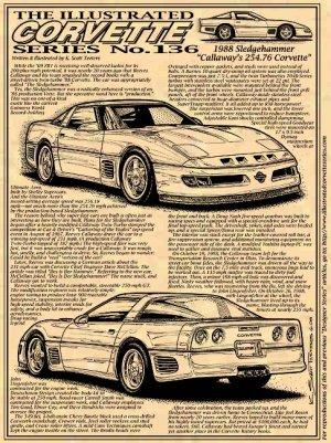 1988 Callaway Corvette Sledgehammer Illustrated Series No. 136