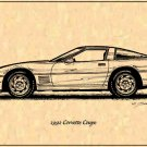 1991 Corvette Coupe Profile