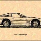 1992 Corvette Coupe Profile