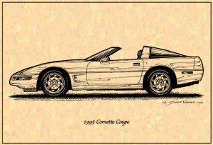1995 Corvette Coupe Profile