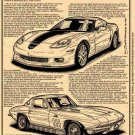 """2008 427 Limited Edition Z06 Corvette """"Past & Present"""" Illustrated Series No. 138"""