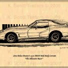 "Zora Arkus-Duntov's 1975 ""Silhouette Corvette Racer"" IMSA Wide-Body Development Mule Corvette"