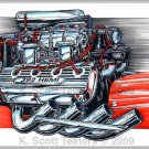 392 HEMI Engine Laser Color Print