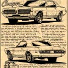1968 427 GT-E  Mercury Cougar - Print No. BPS-13