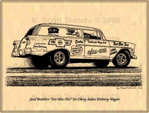 Jesel Brothers Yoo-Hoo-Too Chevy Sedan Delivery Wagon