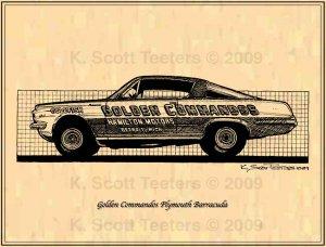 Golden Commandos Plymouth Barracuda