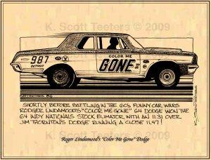 Roger Lindamood's Color Me Gone 1964 Dodge