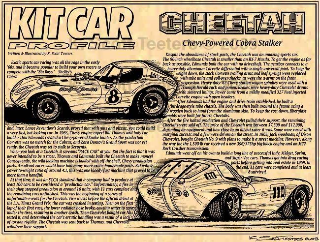 Cheetah Road Racer Chevy Powered Cobra Stalker