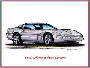 1996 Collector Edition Corvette Laser Color Print