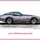1978 25th Anniversary Corvette Laser Color Print
