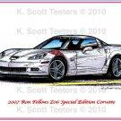 2007 Ron Fellows Z06 Special Edition Corvette Laser Color Print