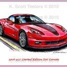 2008 427 Limited Edition Z06 Corvette Laser Color Print