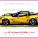 2009 GT-1 Championship Edition Corvette Laser Color Print