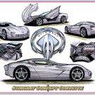 """Stingray Concept Laser Color Print """"C7 Sneak-Peek Or Just the Latest Corvette Concept Car?"""""""