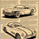 1954 Motorama Concept Car Corvettes - Corvette Illustrated Series No. 180