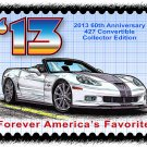 2013 60th Anniversary 427 Convertible Collector Edition Corvette Postage Stamp Art Print