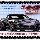 2012 Centennial Edition ZR1 Corvette Postage Stamp Art Print